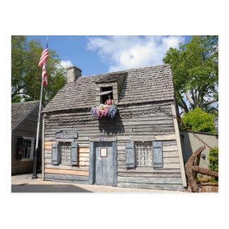 Oldest Wooden Schoolhouse Postcard