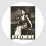 oldhollywood1 classic round sticker