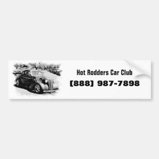 Oldie blanco y negro - auto del vintage pegatina para auto