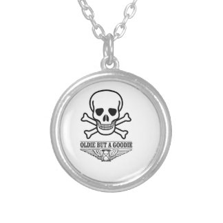 oldie but a goodie death silver plated necklace