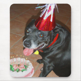 Oldie But Goodie Birthday Dog Mouse Pad