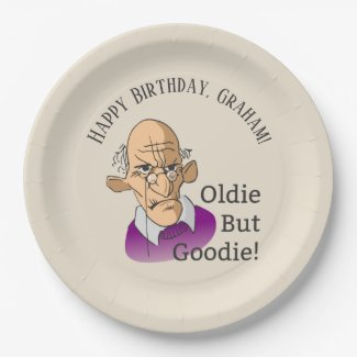 Oldie But Goodie Over The Hill Birthday Paper Plate