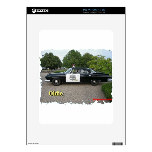 Oldie Police car iPad Decal