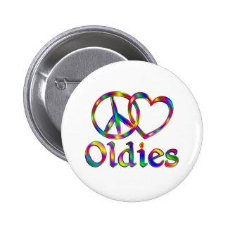 Oldies del amor de la paz pin redondo 5 cm
