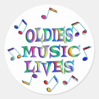 Oldies Music Lives Classic Round Sticker