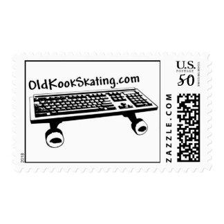 OldKookSkating Postage Stamps