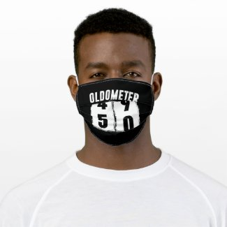 Oldometer 50 50th Birthday Adult Cloth Face Mask
