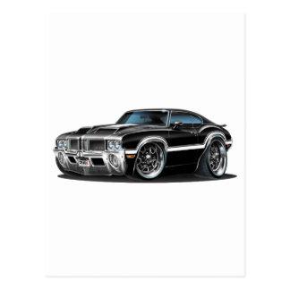 Olds Cutlass 442 Black Car Postcard