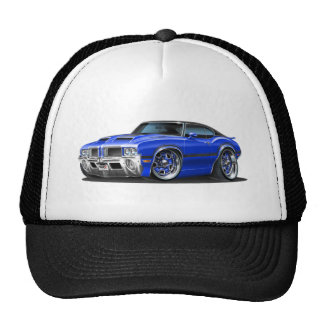 Olds Cutlass 442 Blue Car Trucker Hat
