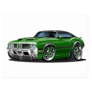 Olds Cutlass 442 Green Car Postcard