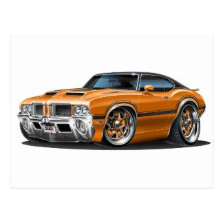 Olds Cutlass 442 Orange Car Postcard