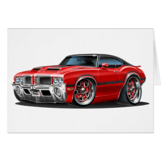 Olds Cutlass 442 Red Car Card