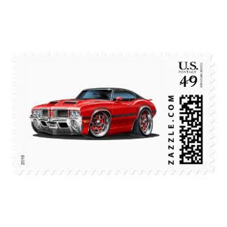 Olds Cutlass 442 Red Car Postage