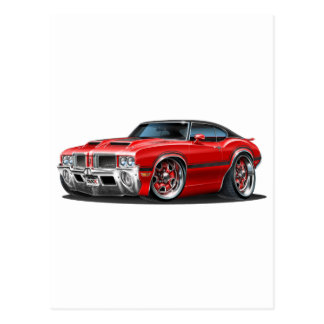 Olds Cutlass 442 Red Car Postcard