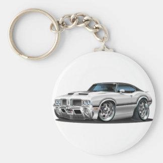 Olds Cutlass 442 White Car Keychain
