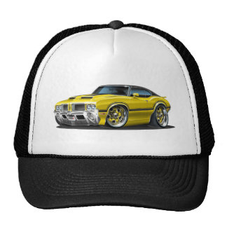 Olds Cutlass 442 Yellow car Trucker Hat