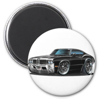 Olds Cutlass Black car 2 Inch Round Magnet