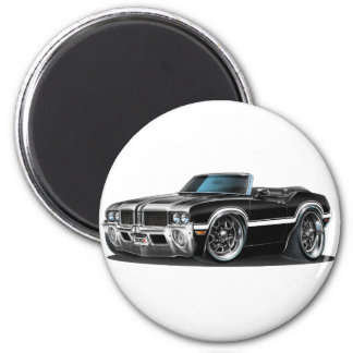 Olds Cutlass Black Convertible Magnet