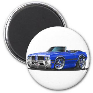 Olds Cutlass Blue Car 2 Inch Round Magnet