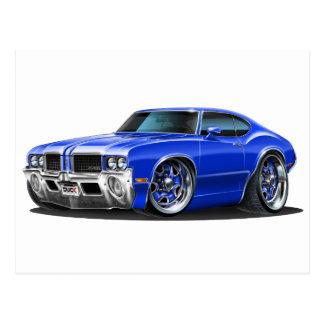 Olds Cutlass Blue Car Postcard