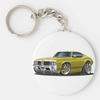 Olds Cutlass Gold Car Keychain