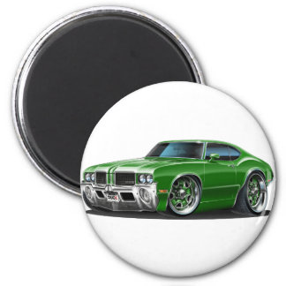 Olds Cutlass Green Car 2 Inch Round Magnet