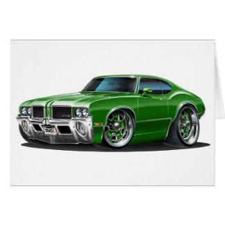 Olds Cutlass Green Car Card