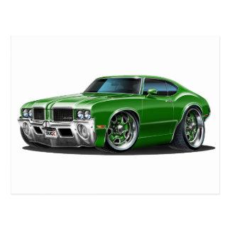 Olds Cutlass Green Car Postcard