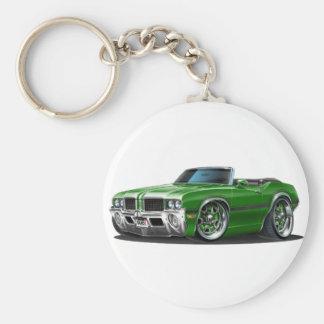 Olds Cutlass Green Convertible Keychain