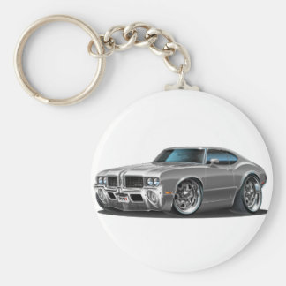 Olds Cutlass Grey Car Basic Round Button Keychain