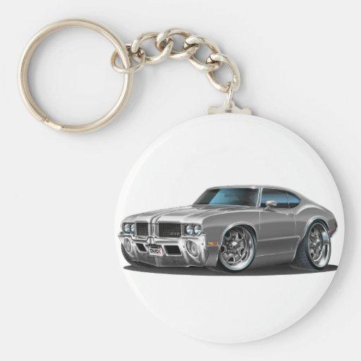 Olds Cutlass Grey Car Keychains