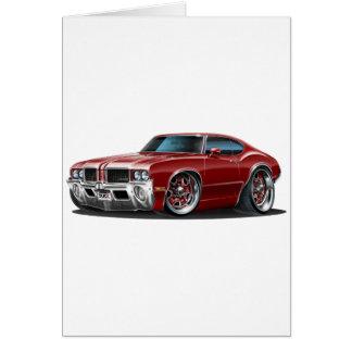 Olds Cutlass Maroon Car Card