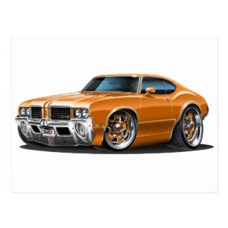 Olds Cutlass Orange Car Postcard