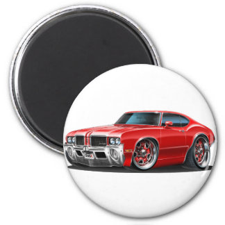 Olds Cutlass Red Car 2 Inch Round Magnet