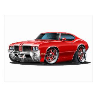 Olds Cutlass Red Car Postcard