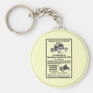 Olds Railroad Inspection Car Basic Round Button Keychain