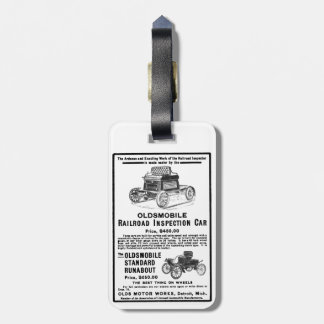 Olds Railroad Inspection Car Luggage Tag