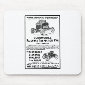 Olds Railroad Inspection Car Mouse Pad