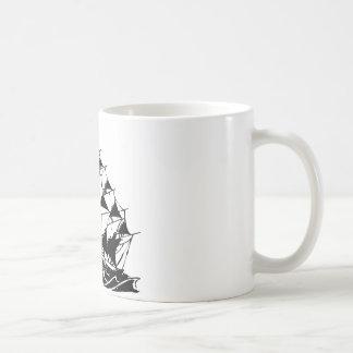 Olds Skool Tattoo Sailing Ship Navy Classic White Coffee Mug