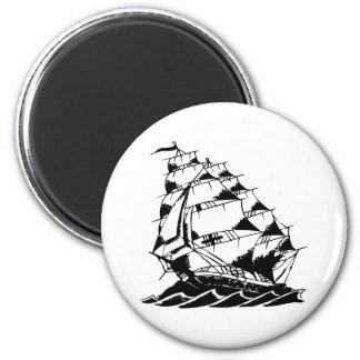 Olds Skool Tattoo Sailing Ship Navy Magnet