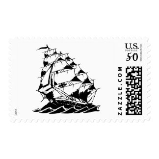 Olds Skool Tattoo Sailing Ship Navy Postage
