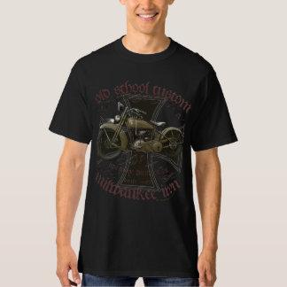 Oldschool customs milwaukee iron american more cho T-Shirt