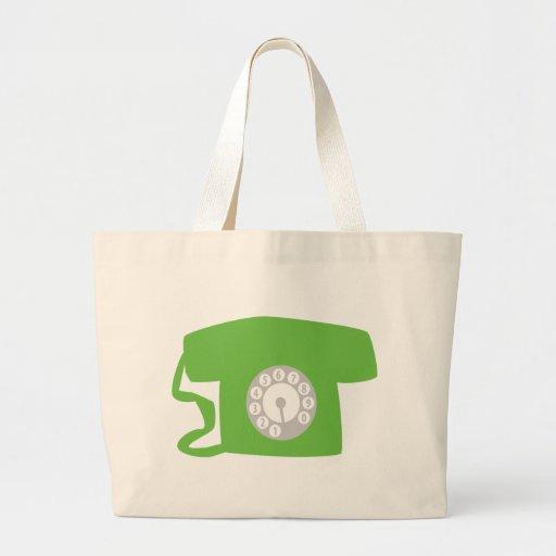oldschool phone - telephone tote bag