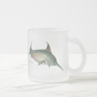 Oldschool style saltwater design frosted glass coffee mug