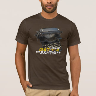 Oldskool Chat v0.0 Master Antique Typewriter T-Shirt
