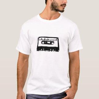 oldskool mixtape music t-shirt cassette