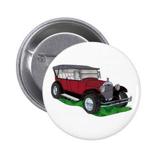 Oldsmobile 1923 que viaja - rojo pin redondo 5 cm
