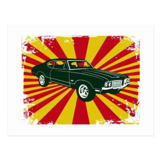 Oldsmobile 1970 442 tarjeta postal