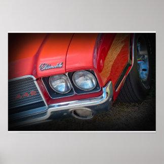 Oldsmobile 1972 442 póster