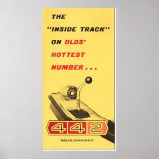 Oldsmobile 442 - reproducción de la página de la c póster